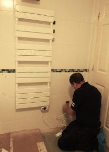 electric radiator installation